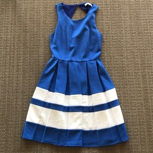 Blue and white skater dress size XS